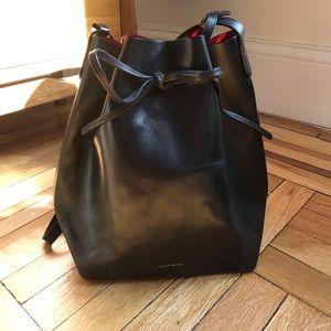 Mansur Gavriel black classic bucket bag